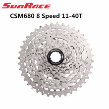 Sunrace CSM680 8 Speed 11 40TจักรยานMtb Cassette 8 Speed 11 40Tฟรีการจัดส่ง