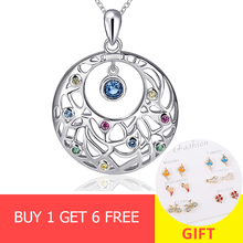 New arrival 925 sterling silver round shape Flower vine chain pendant&necklace with CZ diy fashion jewelry making for women gift 2016 american new arrival hotsale regular round flower shape chain with big crystal clear rhinestone jewellery sets