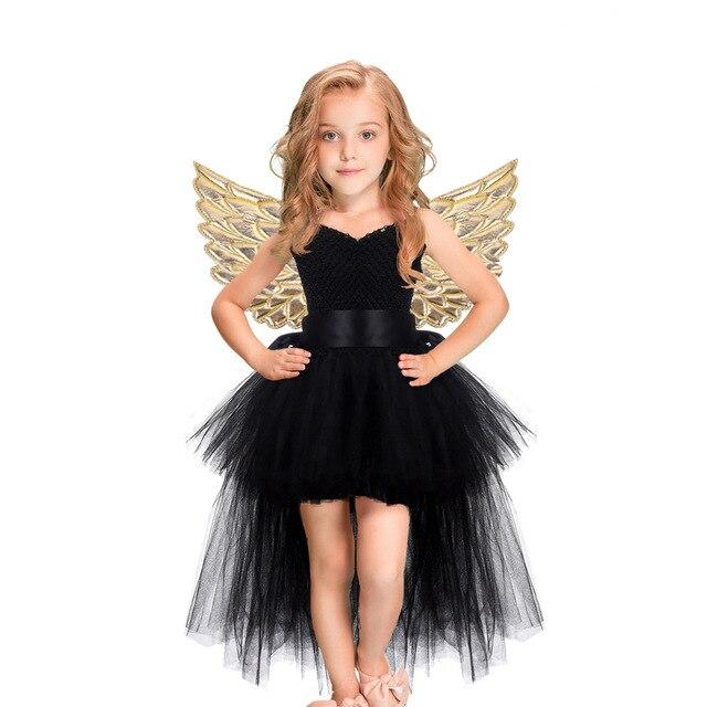 חג המולד Unicorn נסיכת שמלת פורים מסיבת יום הולדת קוספליי מלאך ילדי רשת טוטו חצאית ורוד תחרה קלע תלבושות עבור בנות