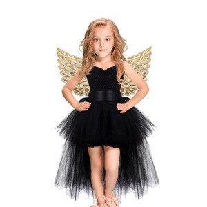 Image 1 - Weihnachten Einhorn Prinzessin Kleid Purim Geburtstag Party Cosplay Engel Kinder Mesh Tutu Rock Rosa Spitze Sling Kostüm für Mädchen
