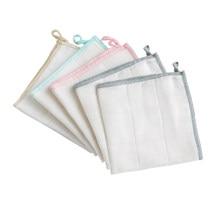 5 peças de fibra de madeira prato toalha de lavagem de limpeza de cozinha pano de lavagem de louça (cor misturada)