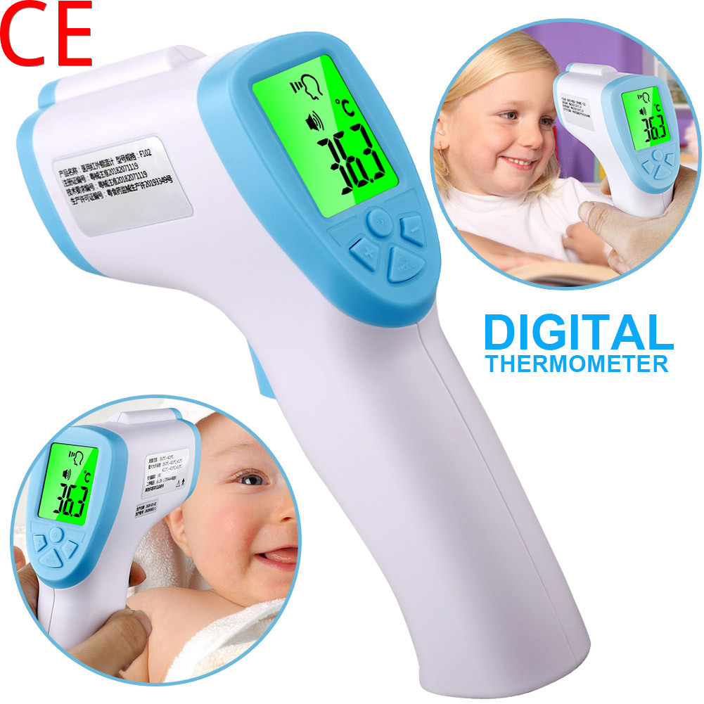 Digital Thermometer LCD Screen Backlight Body Adult Infrared Forehead Thermometer Touchless Temperature Measurement Tool