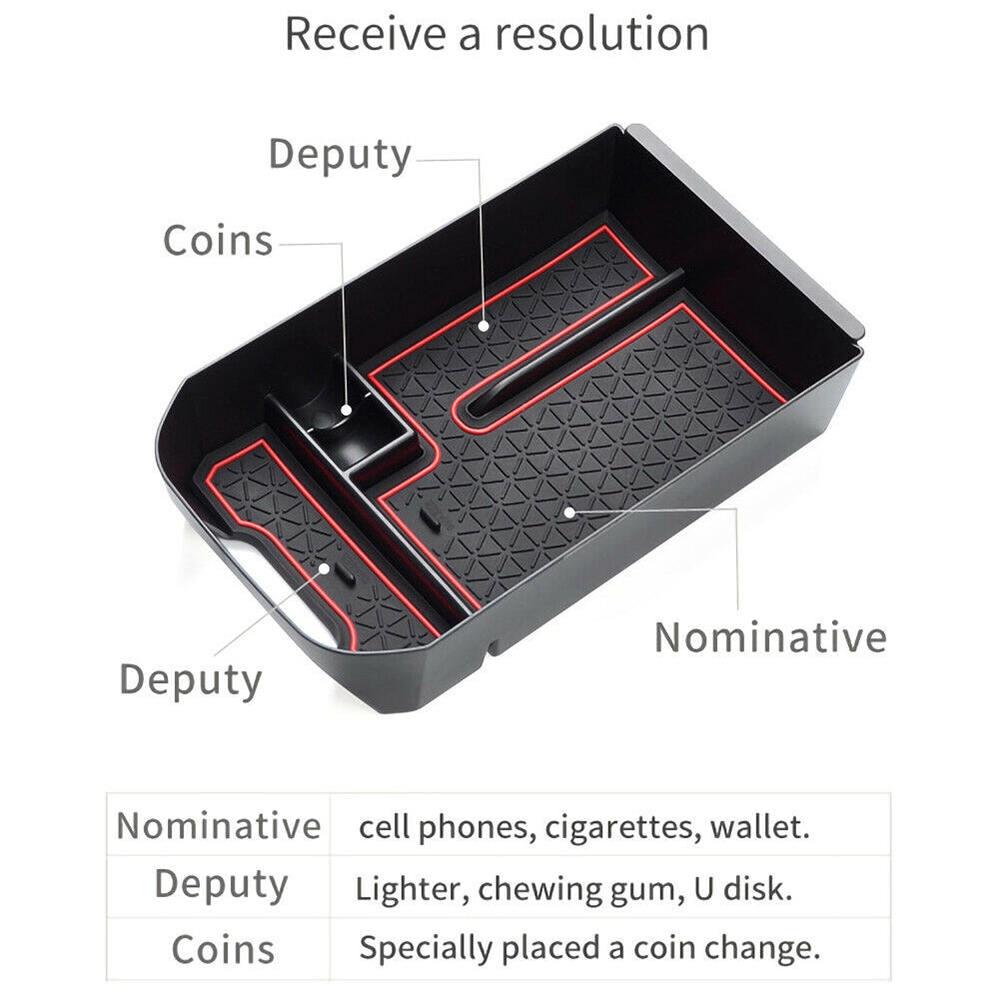 Console central organizador bandeja para caixa de