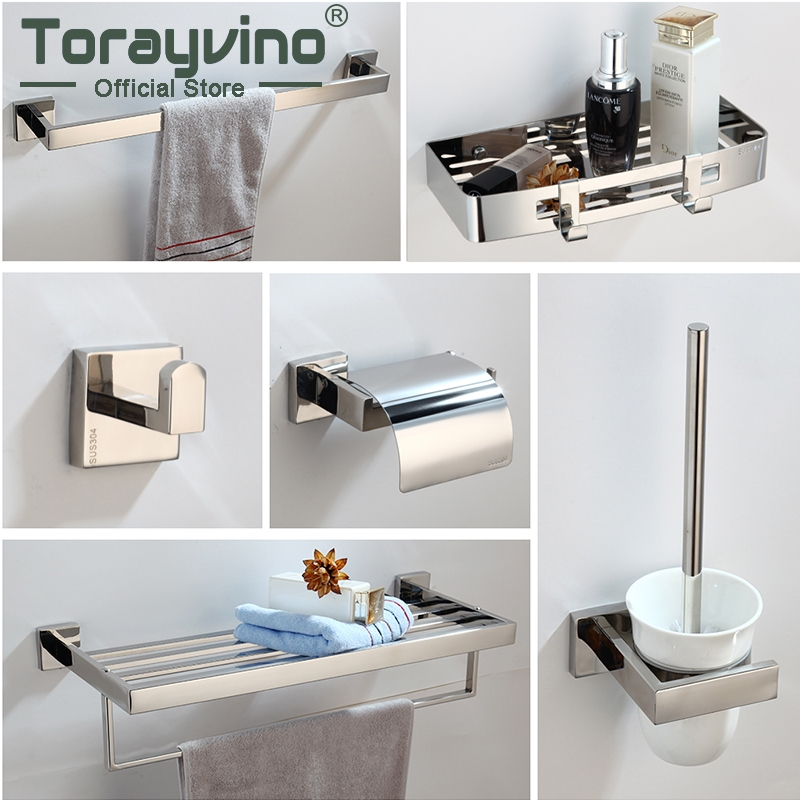 Bathroom Accessories Kit Banheiro 13 Species Wall Mounted Bathroom Parts Towel rod, Soap rack,hook up,Toilet Brush Etc