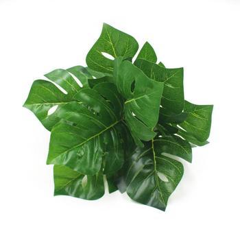 Sztuczne rośliny sztuczna trawa sztuczne żółwie liście ściany zielone rośliny akcesoria dekoracje ślubne doniczkowe sztuczne kwiaty tanie i dobre opinie 1 pc Pulpit Żywica Liść dropshipping 15*12 cm 5 9*4 7 32 cm 12 6 40 g
