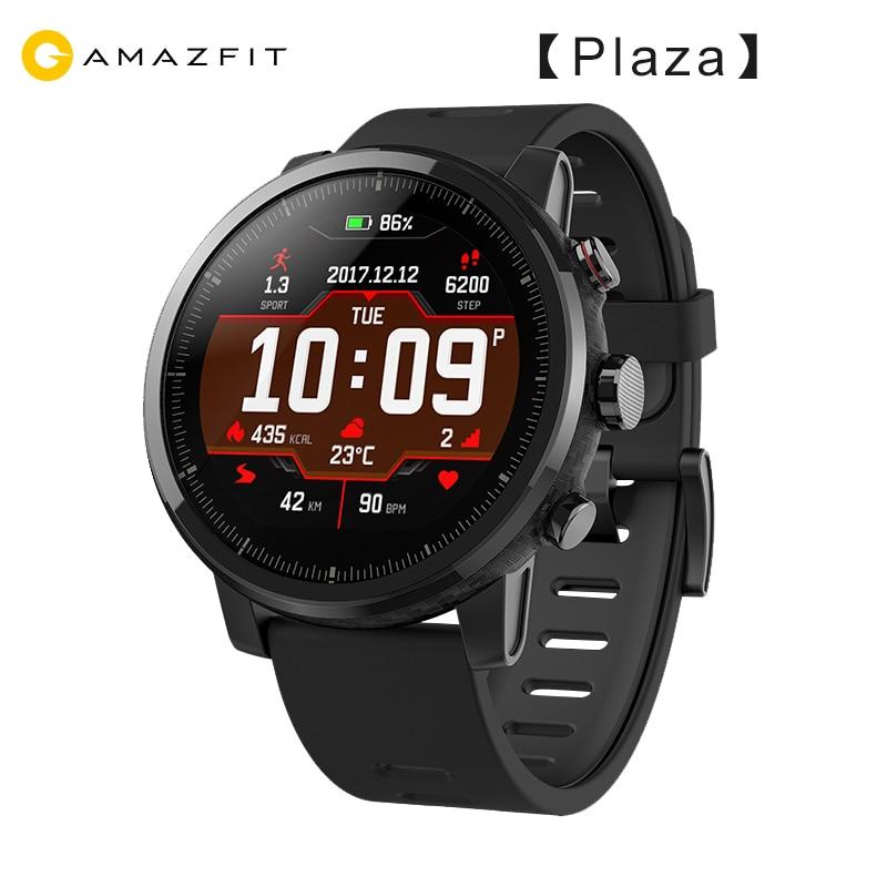 [Plaza] 2019 huami amazfit stratos 2 gps relógio inteligente homem 5atm monitor de freqüência cardíaca esportes smartwatch firstbeat