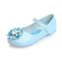 Disney Children's Princess Party Shoes Summer New Girls Sandals Baby Children's Shoes Little Girl Crystal Shoes 24-35