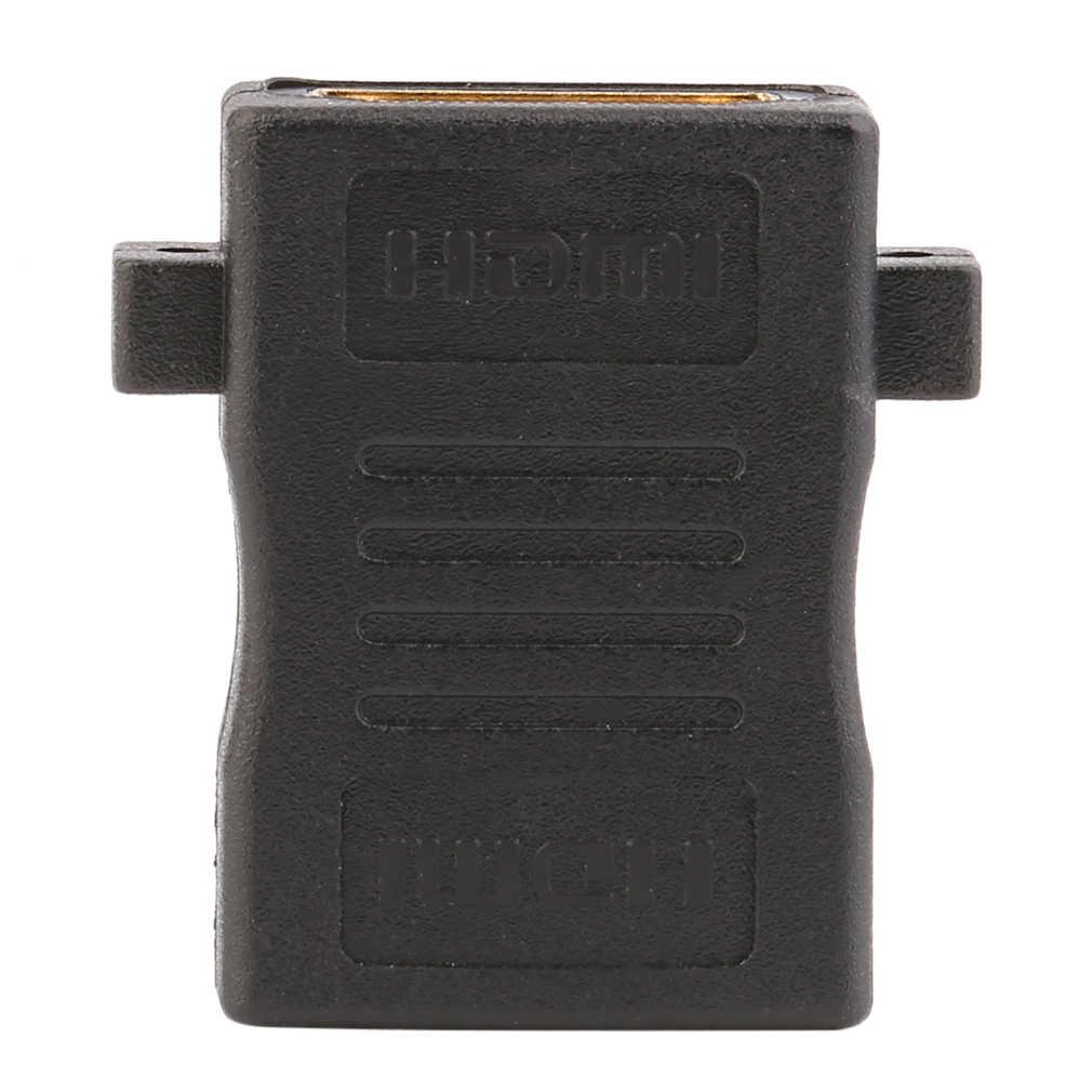 Yeni HDMI dişi hareketli kelepçe 180 derece marangozluk adaptörü dönüştürücü siyah renk dayanıklı taşınabilir