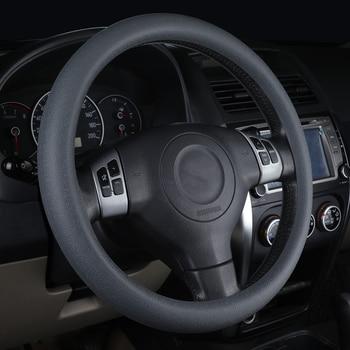Wielokolorowy uniwersalny skórzany miękki silikonowy pokrowiec na kierownicę silikonowy pokrowiec na kierownicę samochodu miękkie akcesoria samochodowe