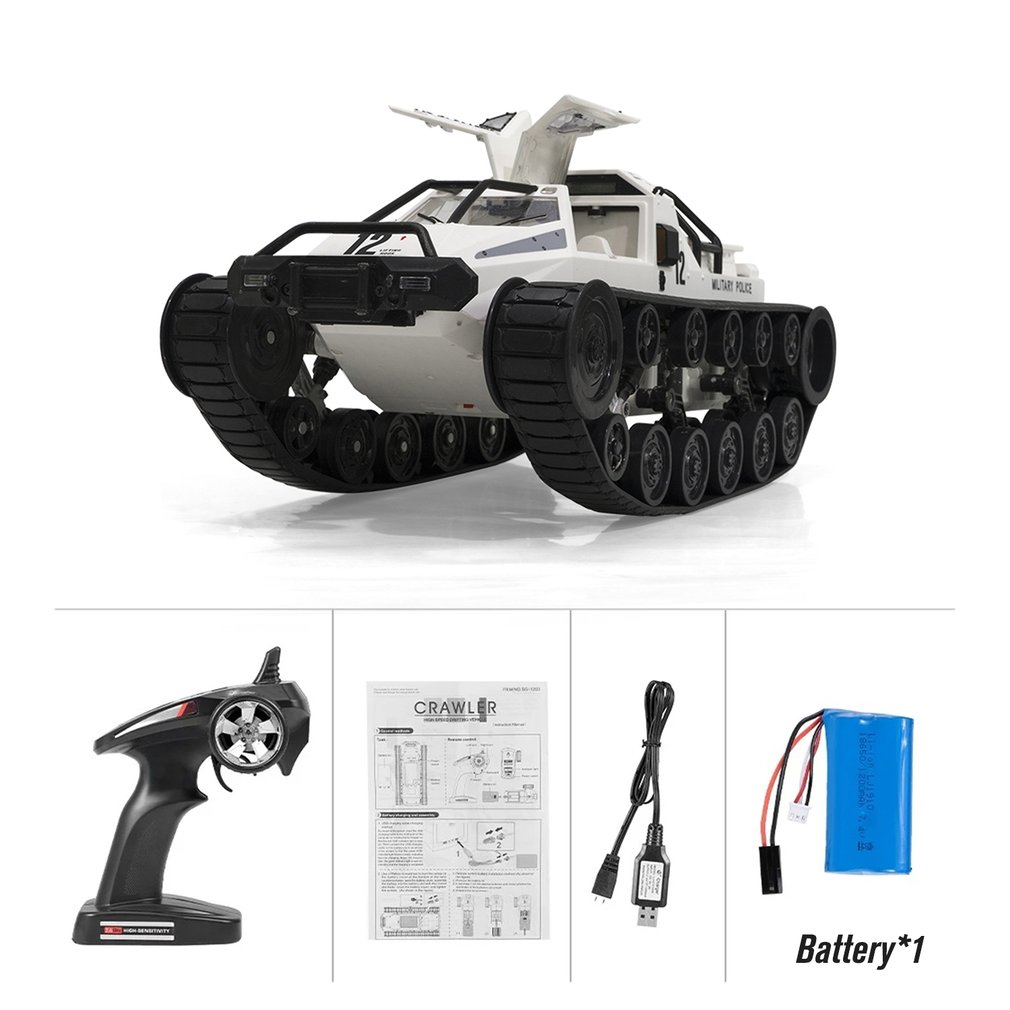 SG-1203 1:12 4WD RC Tank Drift Cars 2.4G Remote Control High Speed Full Proportional Vehicle Model Tanks for Children Gift