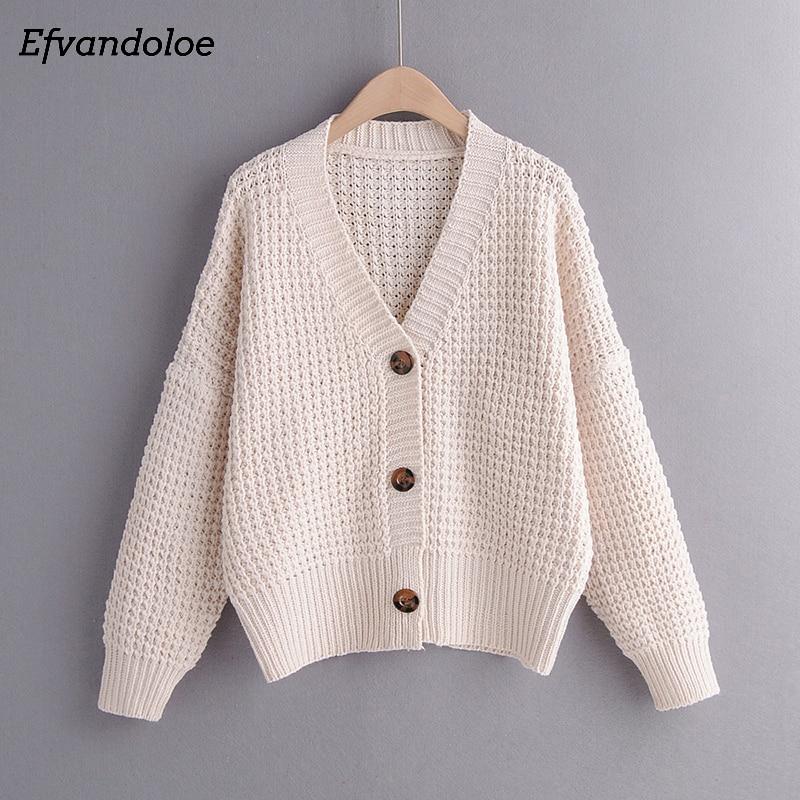Efvandoloe Autumn Cardigan Sweater Women Winter Clothes Kardigan knitted fall 2019 Sweaters 2