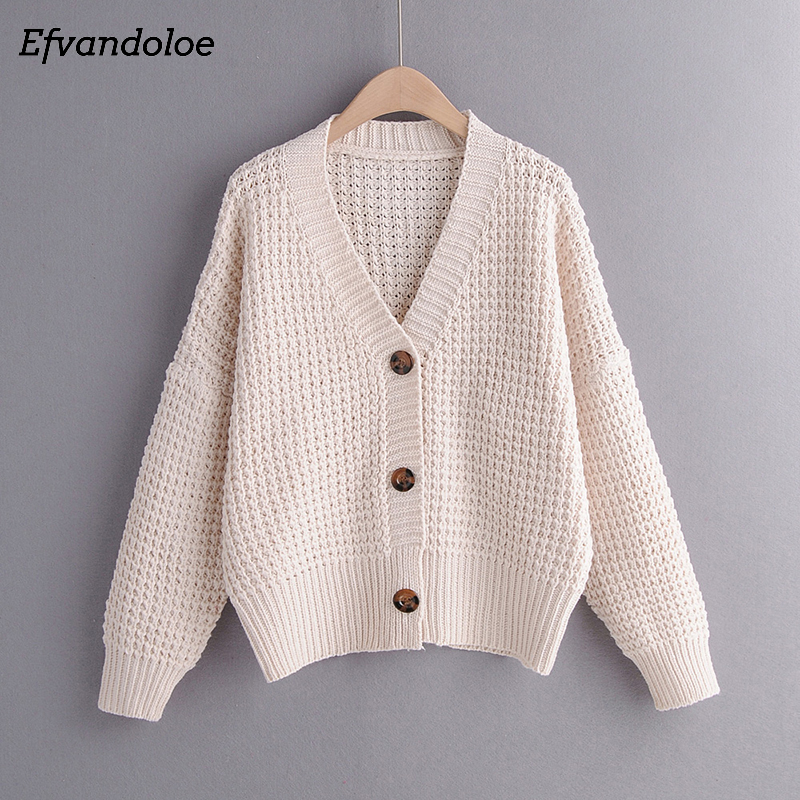 Efvandoloe Autumn Cardigan Sweater Women Winter Clothes Kardigan Knitted Fall 2019 Sweaters