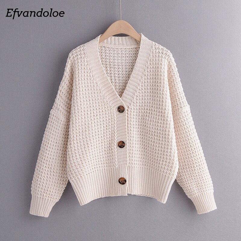 Efvandoloe Herbst Strickjacke Pullover Frauen Winter Kleidung Kardigan gestrickte herbst 2019 Pullover