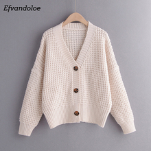 Efvandoloe סתיו קרדיגן סוודר נשים חורף בגדי Kardigan סרוג סתיו 2020 סוודרים נקבה Jumper מעיל