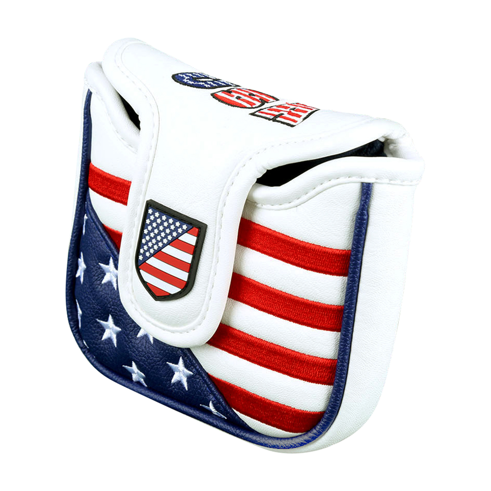 Golf Putter Cover USA Flag PU Magnetic Closure Square Large Mallet Putter Headcover Drop Ship