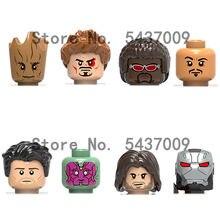 X0217 продажа персонажей из серии фильмов аксессуары для головы строительные блоки подвижные куклы детские игрушки подарок Минифигурки Игру...