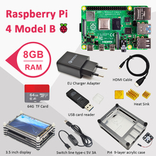 Power-Adapter Case Hdmi-Cable Raspberry Pi 4-Model 4-Display 8GB:-HEAT-SINK Pi 4b 4-8gb-Kit