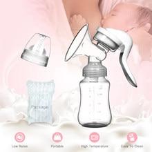 Bouteille tire-lait maternelle de bébé à pompe d'aspiration manuelle, accessoire d'alimentation pour nourrisson, avec biberon