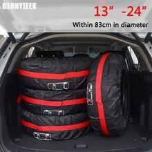 Cubierta de neumático de repuesto de coche, 1/4 Uds., poliéster, bolsas de almacenamiento de neumáticos de coche, accesorios para neumáticos de vehículo, Protector a prueba de polvo con estilo