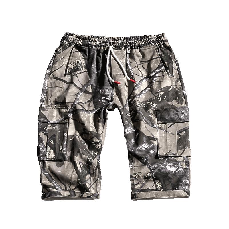 Cargo Shorts Men Cool Casual Camouflage Summer Cotton Pant Clothing Hip Hop Comfortable Camo Bermuda Masculino Streetwear EE5DK