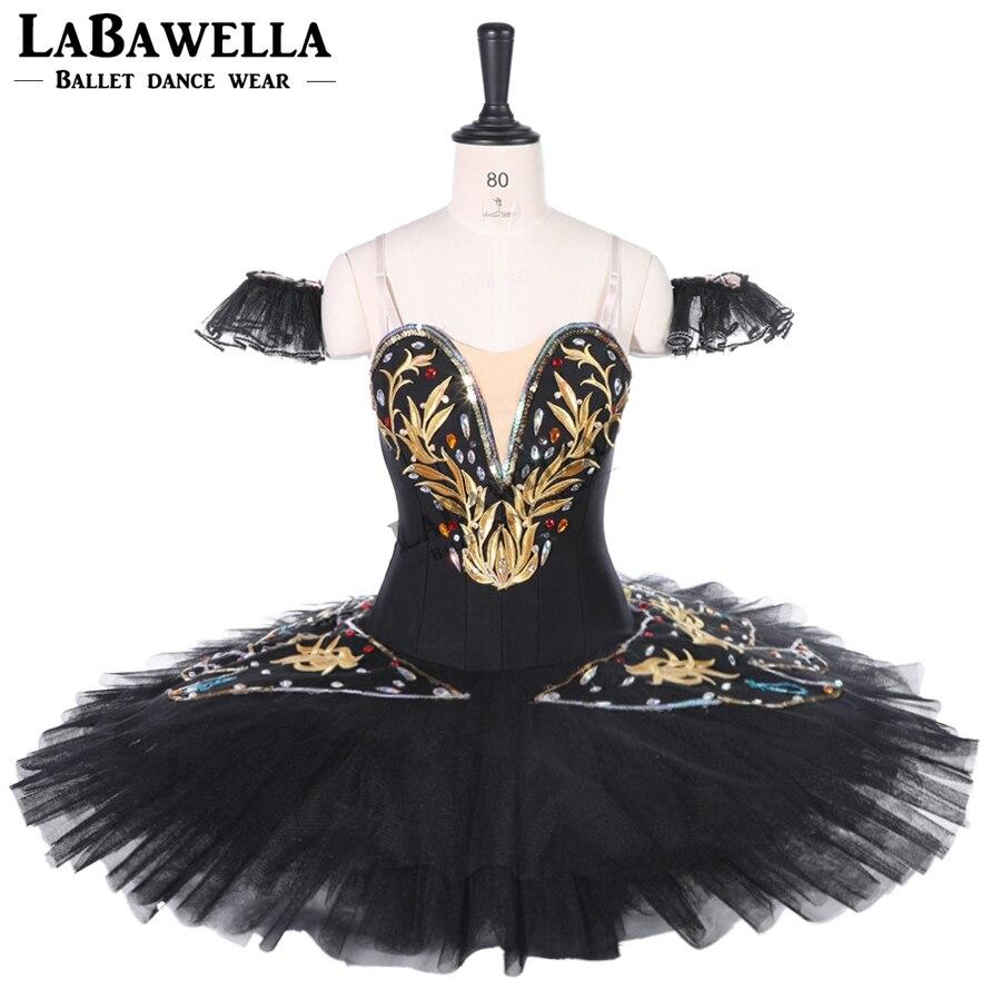 black Professional Ballet Tutu skirt women Black White Classical Ballet Tutus dress Ballerina dance Custom CostumeBT9258