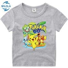 Takara tomy pokemon pikachu camiseta para crianças verão t meninos meninas engraçado anime camiseta bonito crianças roupas topos tshirt menino