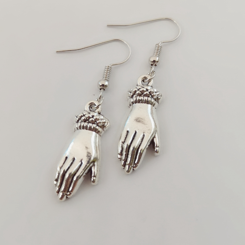 Victorian hand earrings-Occult-gothic-hands-Dagger-athame-Knife-goth-blade-lady hands