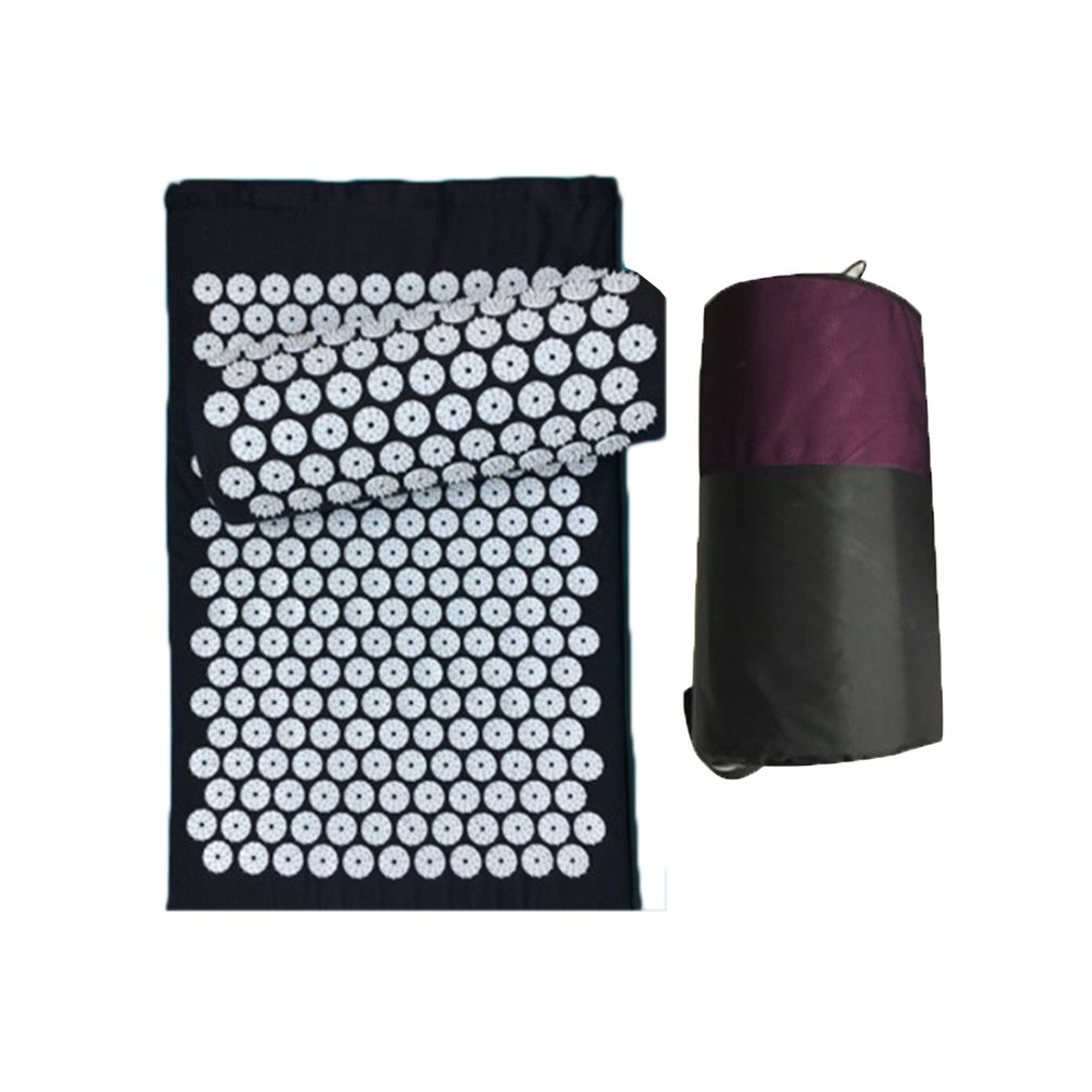 Massage Acupuncture Yoga Mat Acupressure Pillow Cushion Body Back Muscle Pain Relief Acupuncture Mat
