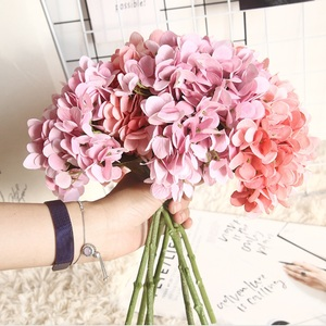 1 bunch fake hydrangeas wedding decorative flowers vases for home decor bridal accessories clearance cheap Artificial flowers