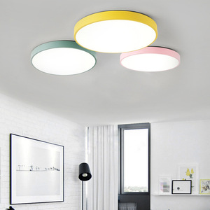 Image 5 - Ultra thin Ceiling Lights Creative Colored Circular LED Ceiling Lamps Childrens Room Lighting Kindergarten Exhibition Hall Lamp