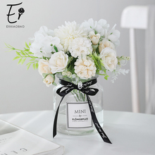 Erxiaobao Hydrangea Silk Flower Ball Dandelion Artificial Flowers Rose Peony Bouquet Fake Wedding Indoor Table Decoration