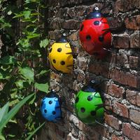 Creative Cute Color Metal Beetles Wall Fence Tree Mounted Garden Hang Animal Decorative Pendant Indoor Outdoor Decor Ornament