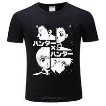 Camisa dos homens do verão o caçador x caçador t camisas killua zoldyck anime manga japão caçadores hxh t-shirts adolescentes topos