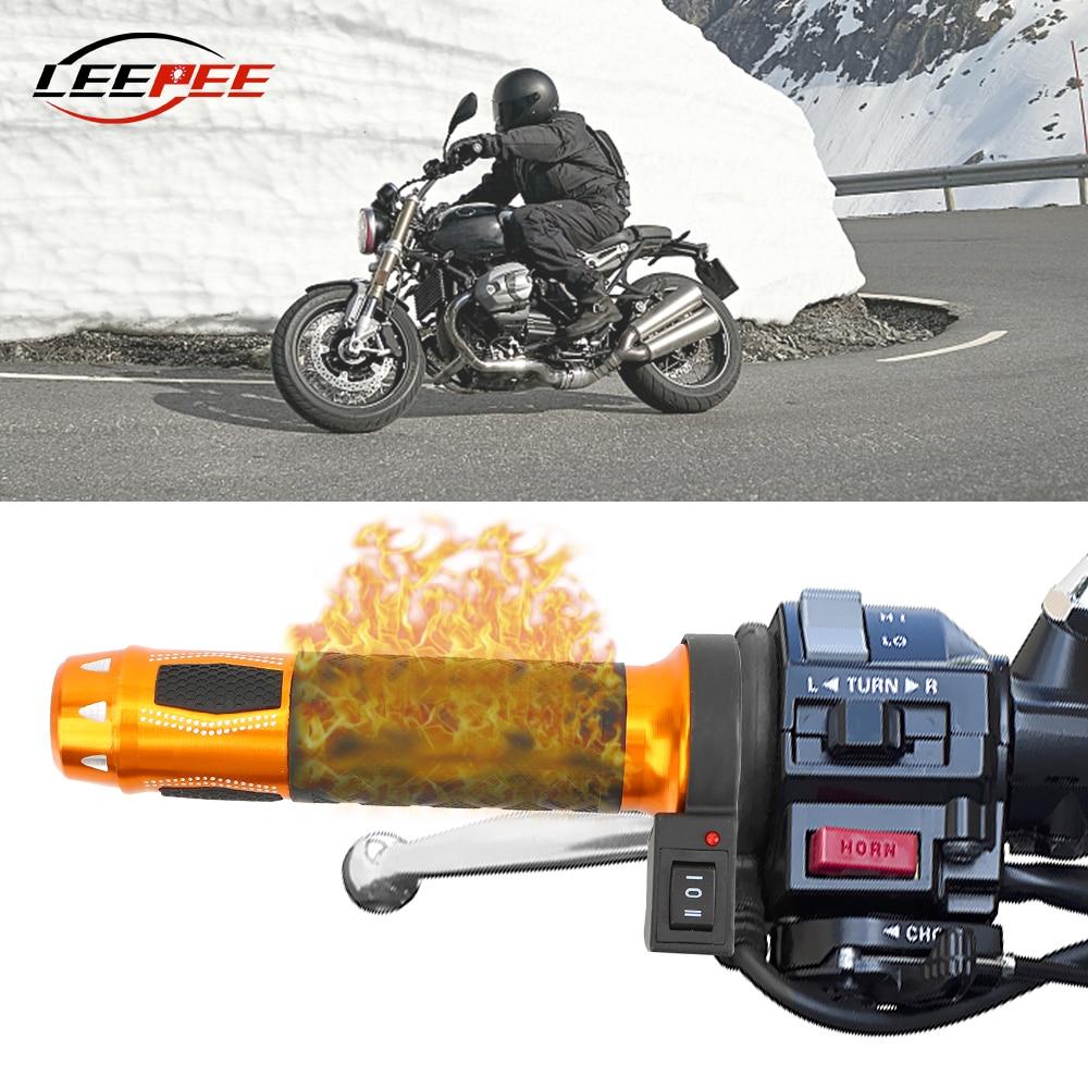 Motor-Accessories Handlebar Heated-Grips Electric 12V Universal LEEPEE Retrofit Repalcement