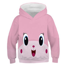 Spring And Autumn Children's Hoodie]Boys' Girls' Sweatshirt 2021 New Super Large LEGO Top-Level Fun Game Fake 3D Printing 1-14T