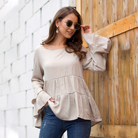 2019 New Fashion Loose Ruffles Draped T shirts Women Butterfly Sleeve Casual Top Tees Autumn Winter O Neck Tshirts Female