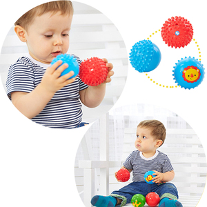 Image 5 - ילדי כדור יד חושי תינוק צעצוע גומי מרקם רב חושים מישוש מגע צעצועי תינוק אימון עיסוי כדורים רכים