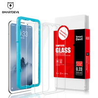 SmartDevil 3 pezzi di vetro Per Meizu 16 ° 16 più il 16X nota 8 nota 9 protezione dello schermo temperato pellicola di vetro del telefono mobile temperato