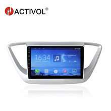 HACTIVOL 9 Quad core car radio for Hyundai Verna 2016 android 7.0 car DVD player gps navi with 1G RAM 16G ROM wifi map hactivol 2 din car radio face plate frame for hyundai verna 2016 black car dvd player gps navi panel dash mount kit car products
