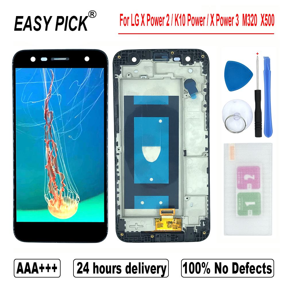 For LG X Power 2 / K10 Power / X Power 3 M320TV M320 M320F M320N X510WM X500 LCD Display Touch Screen Digitizer For LG X5 2018