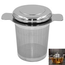 Многоразовая сеточка для заваривания чая с крышкой чайное ситечко, заварник из нержавеющей стали рассыпной чай сито для приправ посуда для напитков кухонные принадлежности