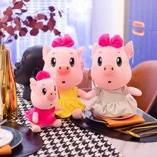 Novo kawaii porco brinquedos de pelúcia brinquedos de pelúcia bonito animais de pelúcia sandy bonito porco travesseiro boneca brinquedos para crianças presentes de aniversário