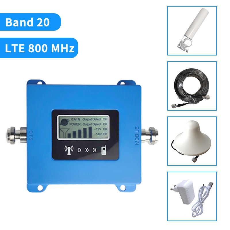 Усилитель сигнала Band20 4G Europe LTE 800MHz усилитель мобильного сигнала 4g Усилитель сотового телефона 4G ретранслятор сотового сигнала 4g антенна