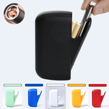 PU leather cigarette case 6 colors elegant and compact with lighter men women co