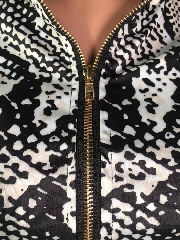 Echoine Elegant Lady Short Suit Set Women Snake Skin Print 2 Piece Set White Color Jacket Blazer High Waist Ankle Pant Suits in Women 39 s Sets from Women 39 s Clothing