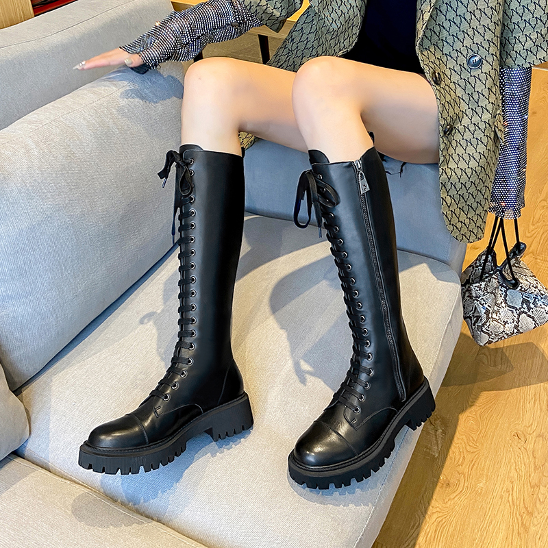 2020 new autumn and winter British style leather women's boots all-match motorcycle boots