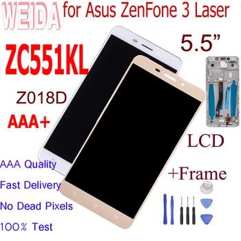 WEIDA 5.5For Asus ZenFone 3 Laser ZC551KL LCD Display Panel Touch Screen Assembly Frame Digitizer +Tools Z018D LCD ZC551KL goowiiz синий asus zenfone 3 laser zc551kl
