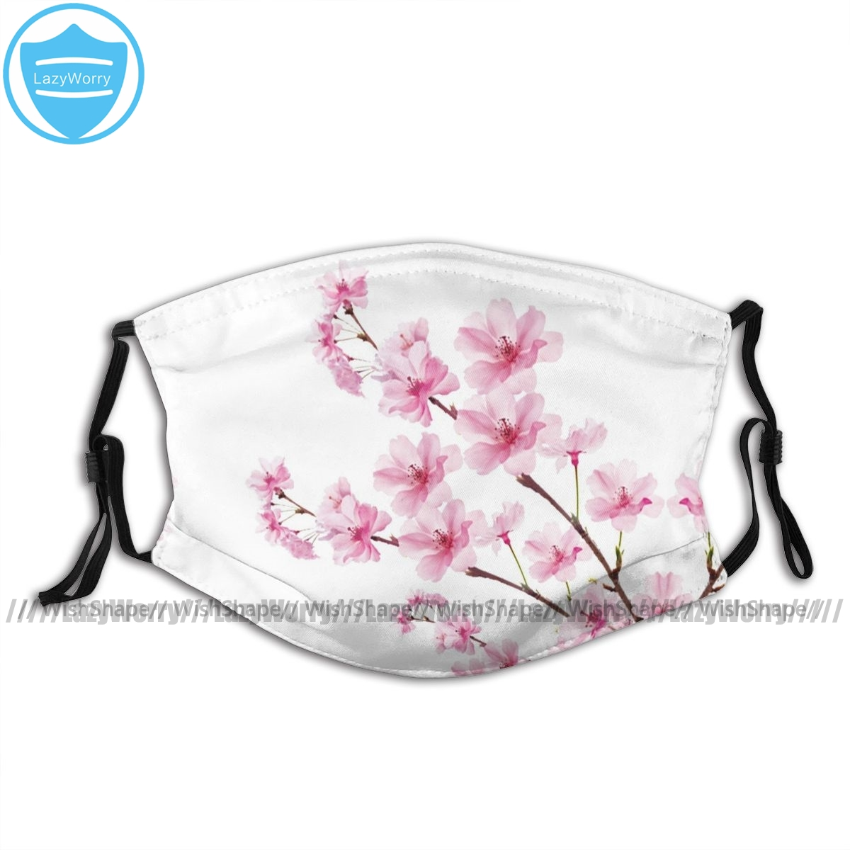 Sakura Mouth Face Mask Sakura Cherry Blossom Facial Mask Fashion Funny With 2 Filters For Adult