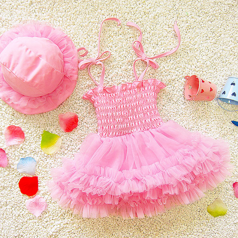 2018 New Style Cute Girls' Princess Skirt Medium And Small Virgin Baby Dress-Infants Hot Springs Bathing Suit