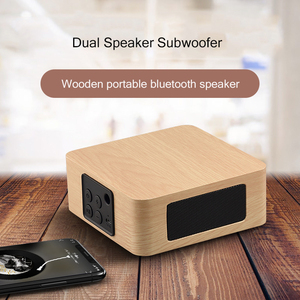 Image 3 - Bluetooth Wooden Bass Speaker Mini Wireless Subwoofer Portable Bass Column For Mobile Phone